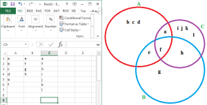 Making Venn Diagram in Excel