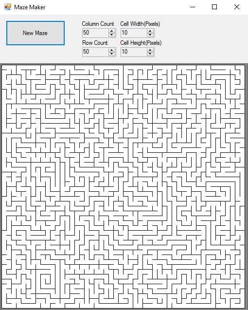 Recursive Backtracker Maze