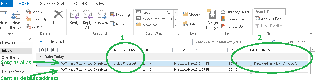 How to show email address not just name in From and To fields