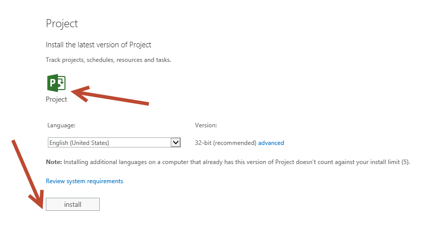 How to install Project Online and Project Pro for Office 365