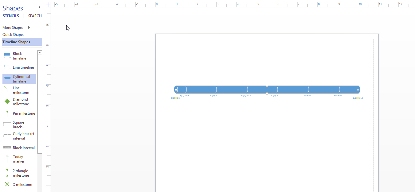 How to set solid one shade color in cylindar Timeline fill