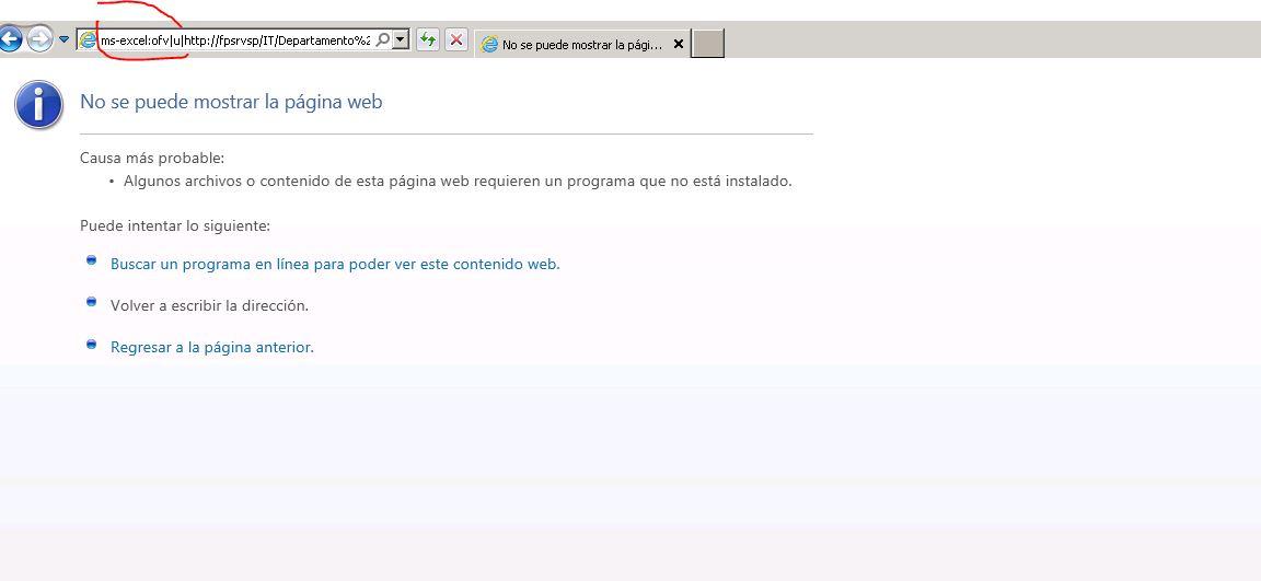 No se puedebe abrir el archivo Word o Excel desde