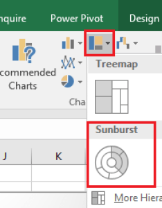Create  excel file with the data about your meals just like range in my example then select whole click insert   hierarchy charts also percent of total sunburst chart rh social technet microsoft