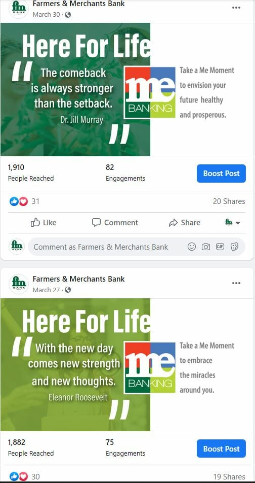 Farmers and Merchants Bank Inspirational-MeMoments