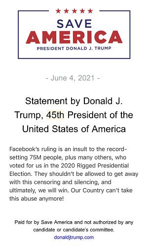 facebook trump ban