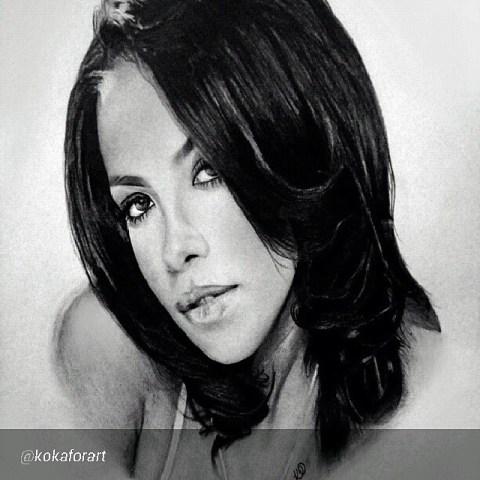 Rip Aaliyah by Artist Kelvin Okafor