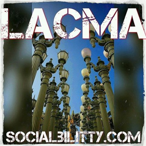 Urban Light by late Artist Chris Burden at LACMA - Photo by Socialbilitty