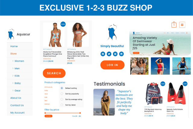 1-2-3 Buzz Shop - Exclusive Service Package - 8 pages, 30 products