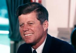 A photograph of JFK
