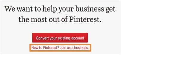 new pinterest business accounts