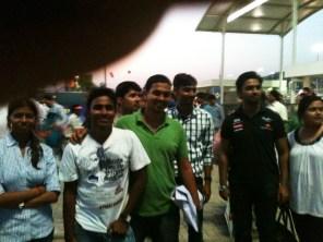 Smile on Sachin's Fans after MI Won.