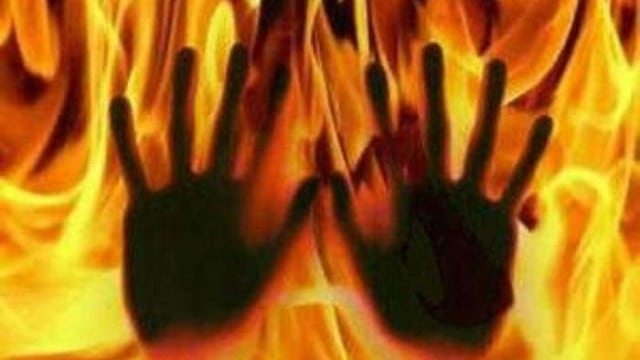 First sold, then gang-raped, eventually forced to burn herself