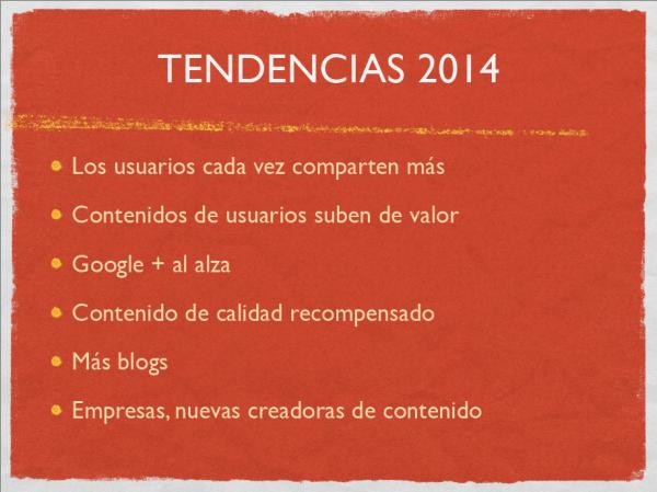 Principales tendencias de contenido digital para 2014.