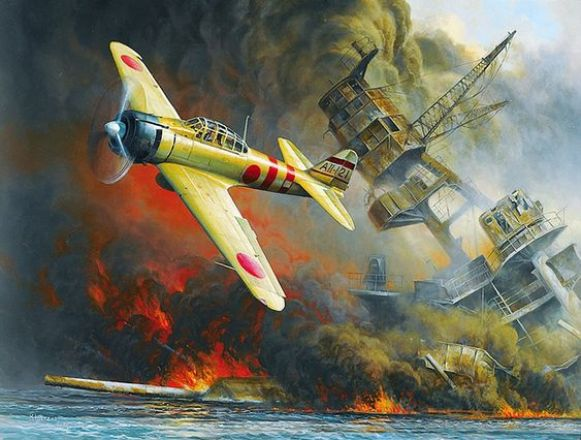 Japanese Air Raid Courtesy of Old Glory Prints