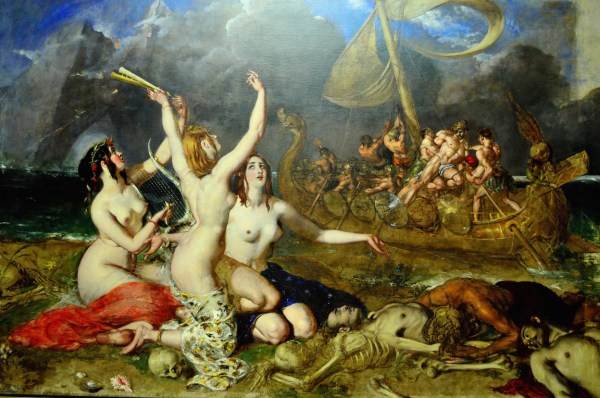 The Sirens and Ulysses by William Etty (1837) Manchester Art Gallery.