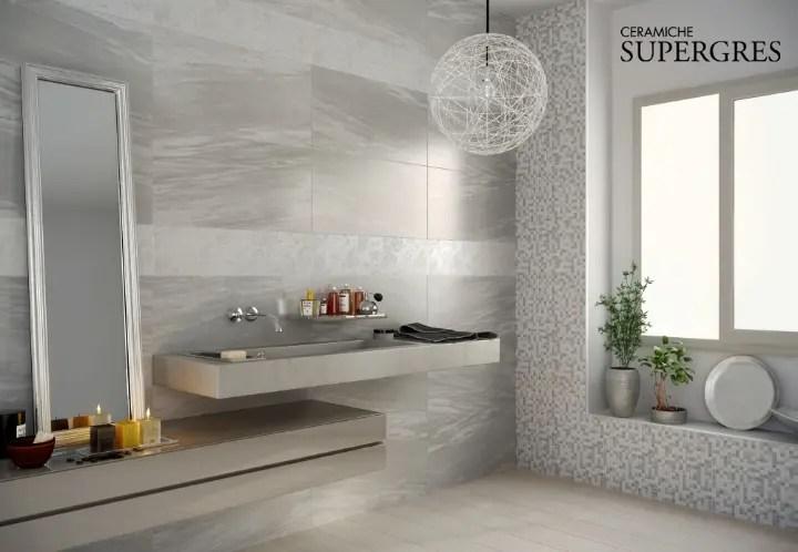RESIDE  Il rivestimento bagno che riproduce leleganza del marmo e della pietra naturale
