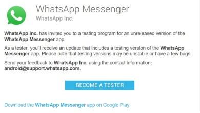 WhatsApp tester