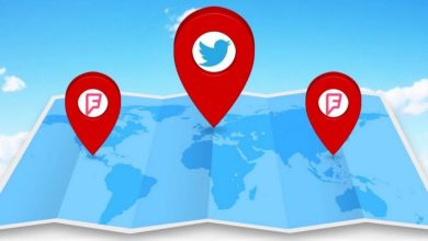 tviter lokacije