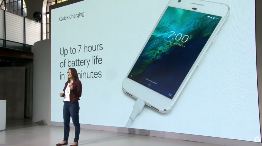 Google Pixel fast charging