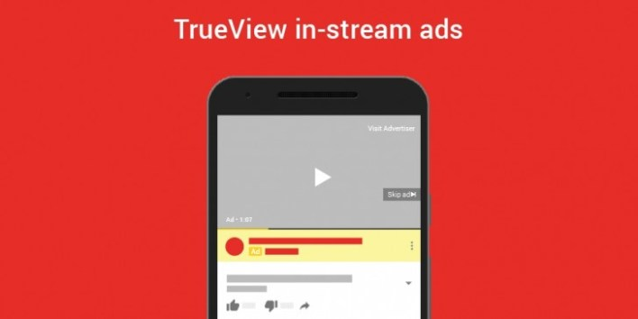 YouTube TrueView ads
