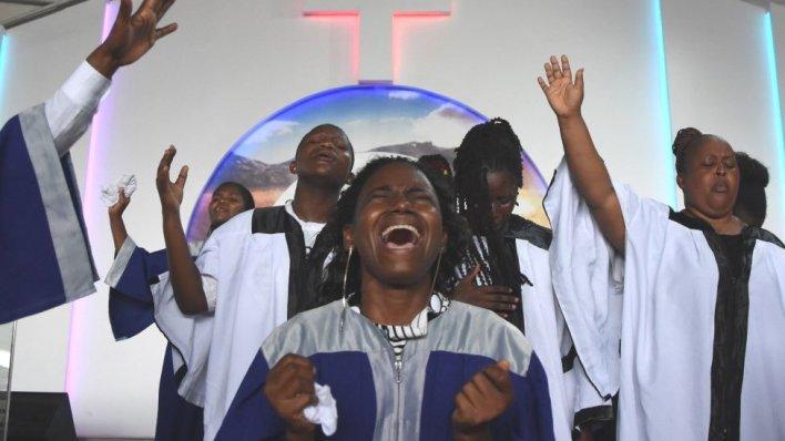 Church service in Dar es Salaam
