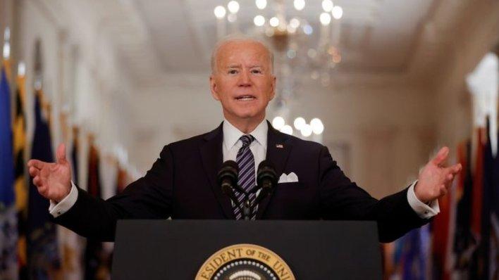 President Joe Biden delivers his speech