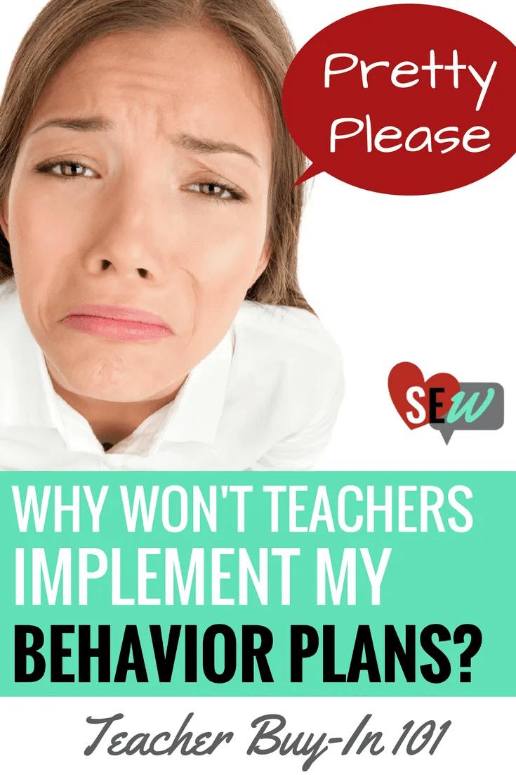 Behavior Plan Pin with Sad Woman