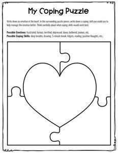 Coping puzzle worksheet