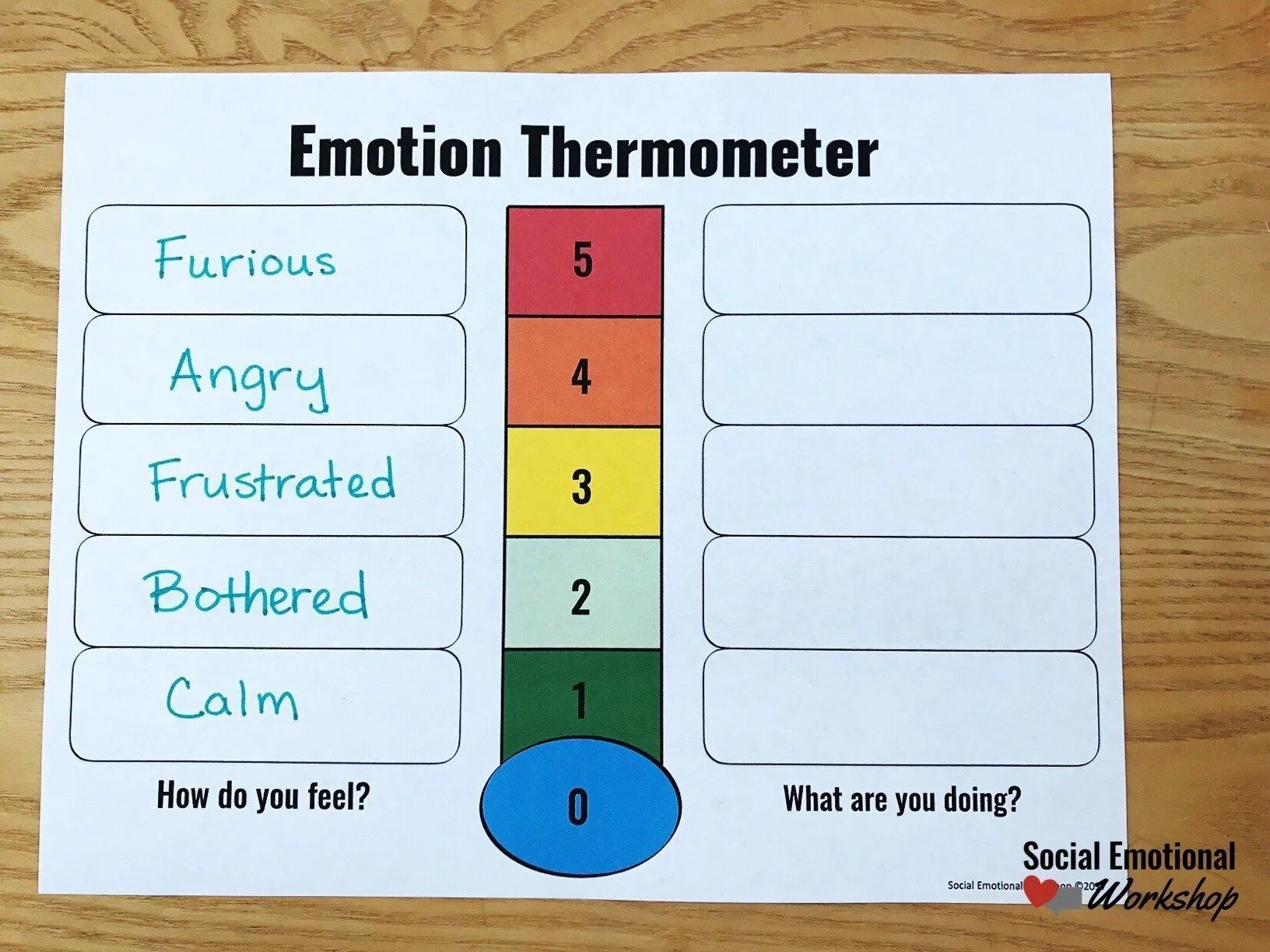 Step by Step to use a feelings thermometer