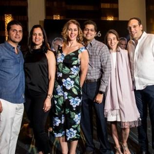 Juan Luis Fernández, Maria Eugenia Portela, Rafael Izquierdo, Gina de Izquierdo, Lina García y Miguel Blasco.
