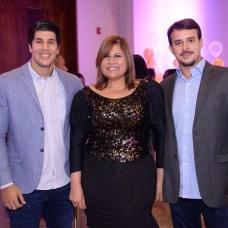Javier Durán, Sandy Leyba y Leonardo Costa