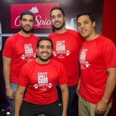 Marcos Reyes, César Reyes, José Luis Villar y Luis Méndez