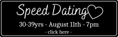 Black rsvp button for speed dating 30-39yrs on August 11th at Golden Monkey