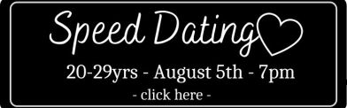 black rsvp button with white boarder for 20-29yrs speed dating event at ladida on August 5th