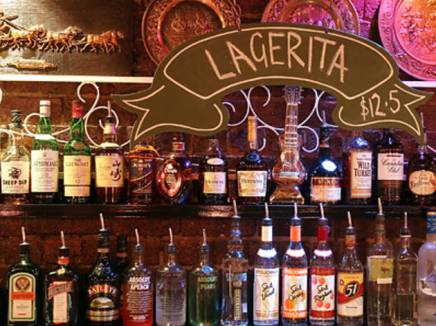 lagerita bar at the bottom end