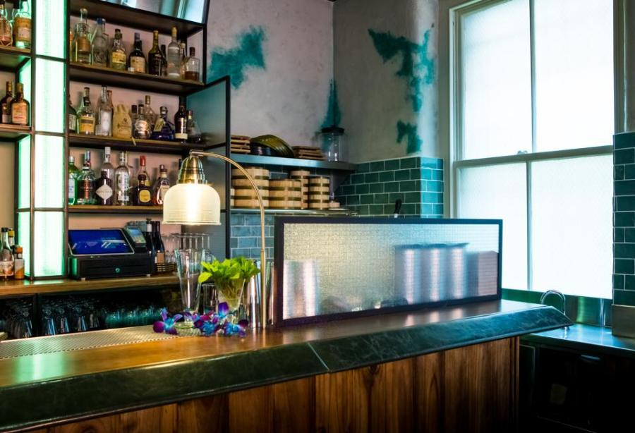 main bar at Asian restaurant east china trading company in Melbourne cbd