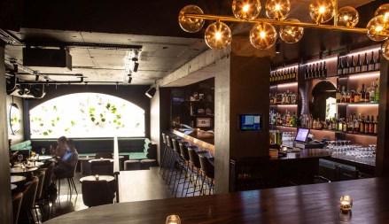 modern best bar in Melbourne with stylish underground concrete bar