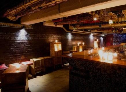 hidden basement cocktail bar of seamstress