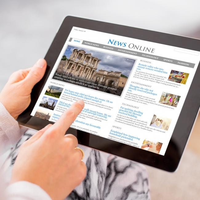 Responsive Website Design on Tablet Device