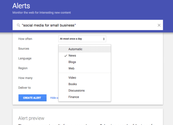 use google alerts track your business online