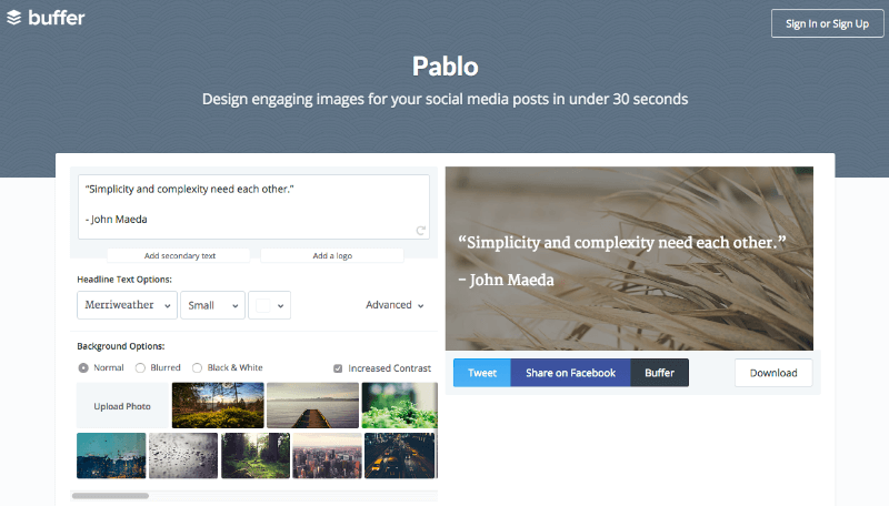 using pablo by buffer to create the perfect image for twitter