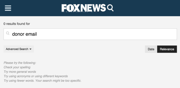fox news search for donor emails