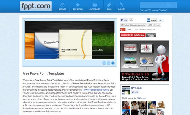 FPPT: Más de 3000 Plantillas de PowerPoint Gratis para Presentaciones