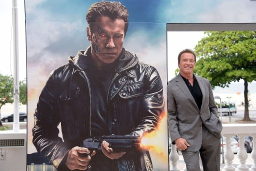 Arnold Schwarzenegger attends the photocall for Paramount Pictures 'Terminator Genisys' at the Copacabana Palace Hotel.