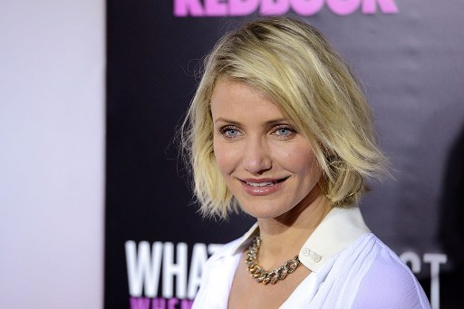 "Actress Cameron Diaz attends the ""What To Expect When You're Expecting"" New York Screening at AMC Lincoln Square Theater"