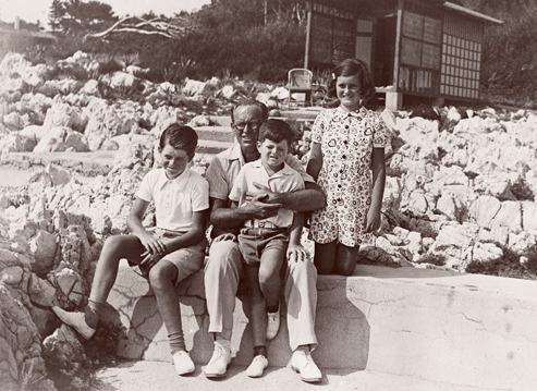 The Kennedy Family at the Hotel du Cap 1938