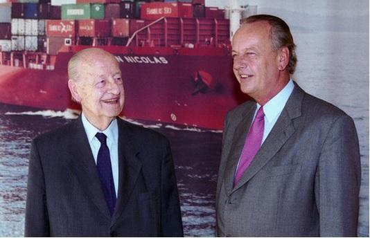 Rudolf-August Oetker and Son August Oetker in 2003