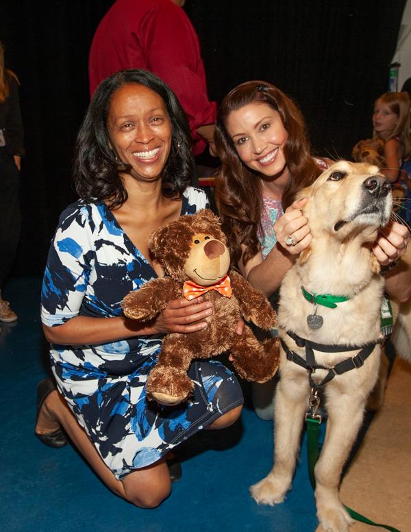 Michele-Hall-Duncan-&-Shannon-Elizabeth-w-Amos-Service-Dog