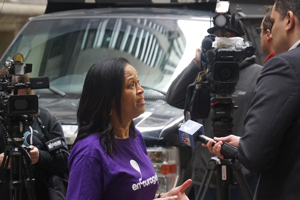 Michele-Hall-Duncan-Speaking-to-Media