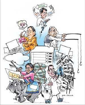 Image result for UP ELECTION CARTOONS